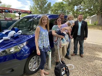 Fischer Family and their new van donated by Cowboy Skill Games