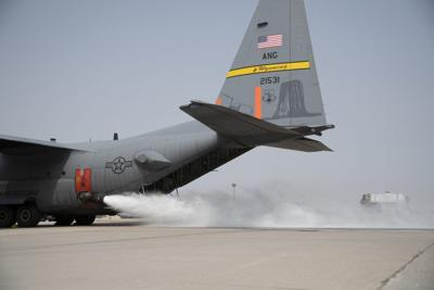 Wet Fire Test of C-130