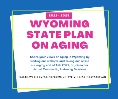 Wyoming State Plan on Aging graphic