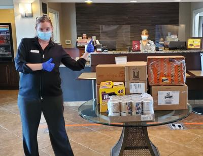 Best Western Plus Frontier Inn donates items to the Cheyenne Regional Medical Center Foundation