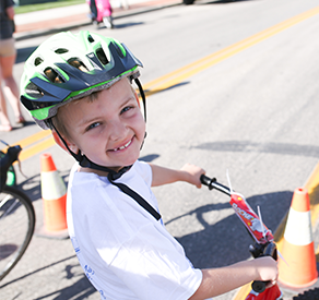 Young Rider in Tour de Wish