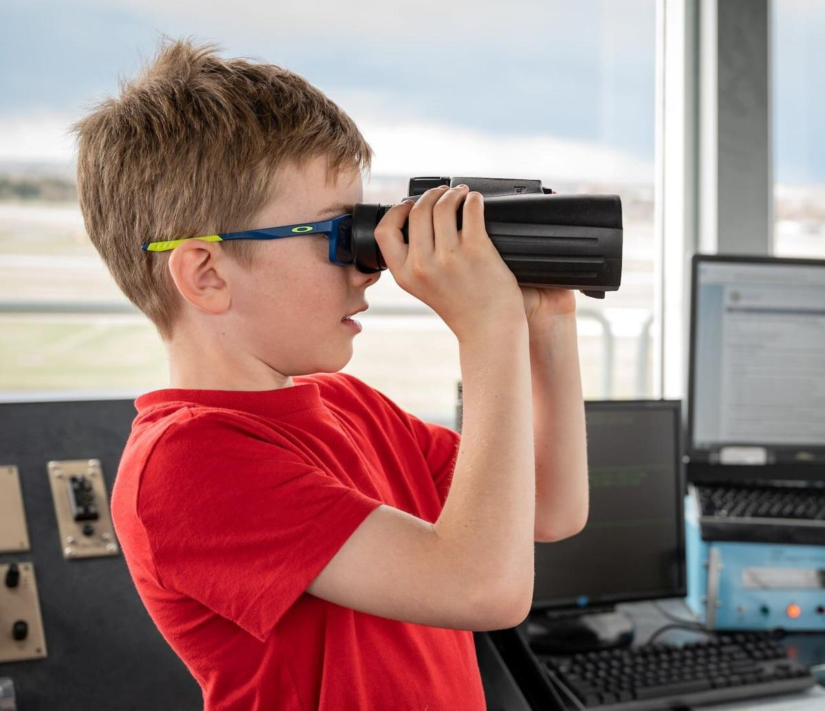 Kenny Watt with binoculars