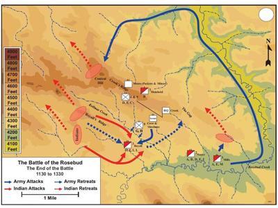 Rosebud Battlefield map