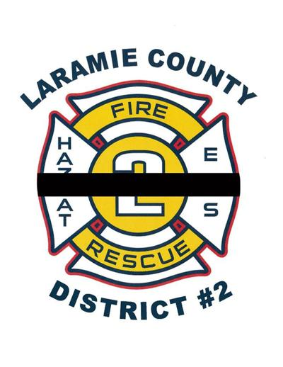 Laramie County Fire District 2 logo with black bar