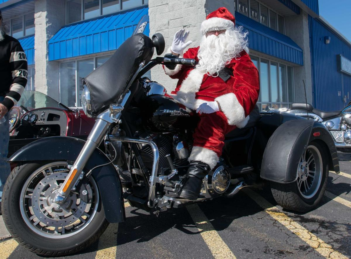 Santa rides for Toys for Tots Cheyenne