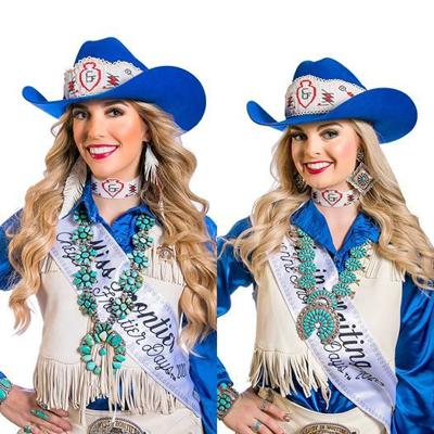 Miss Frontier Savannah Messenger and Lady In Waiting Bailey Bishop