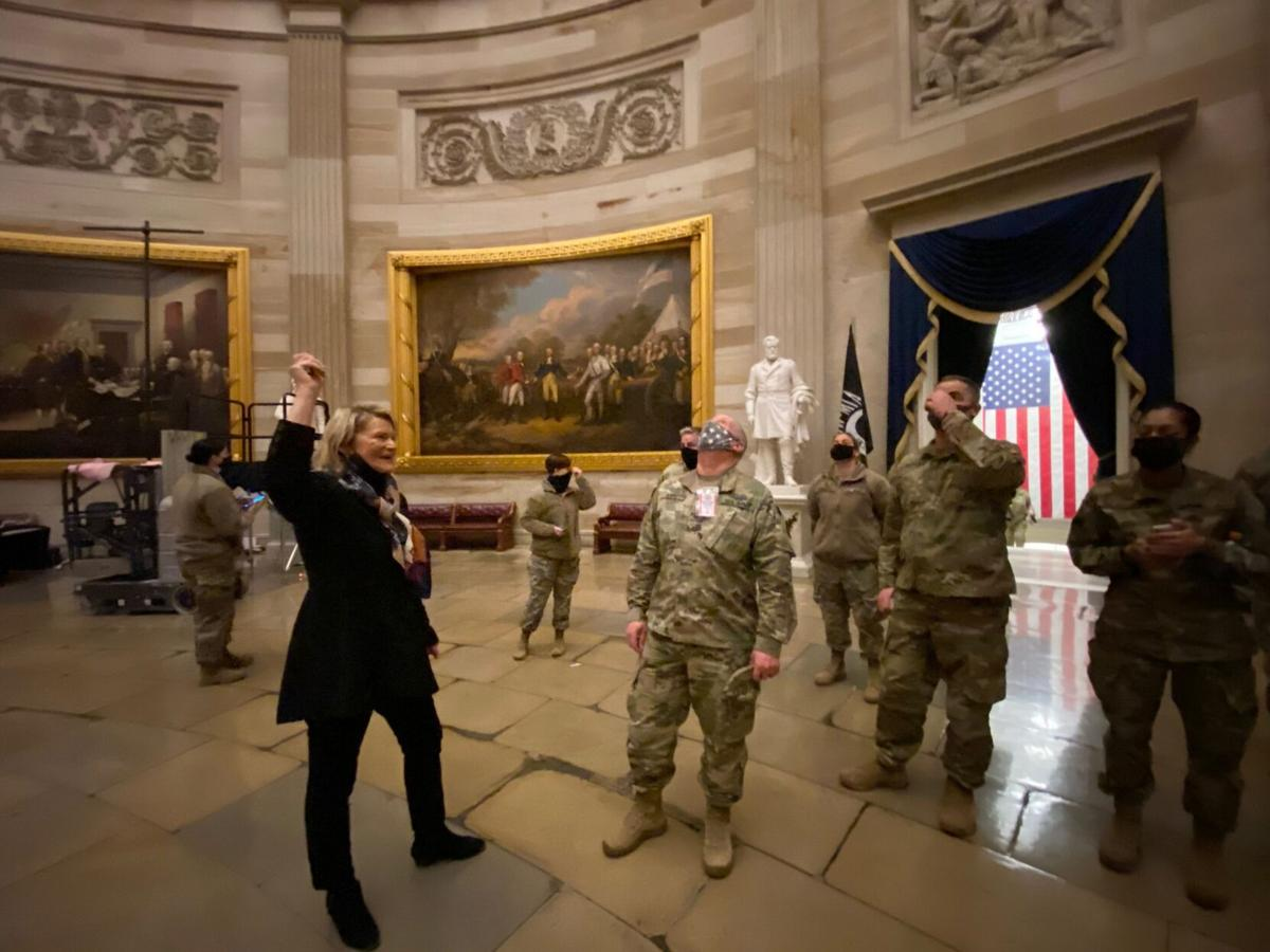 Lummis with Wyoming National Guard in D.C.