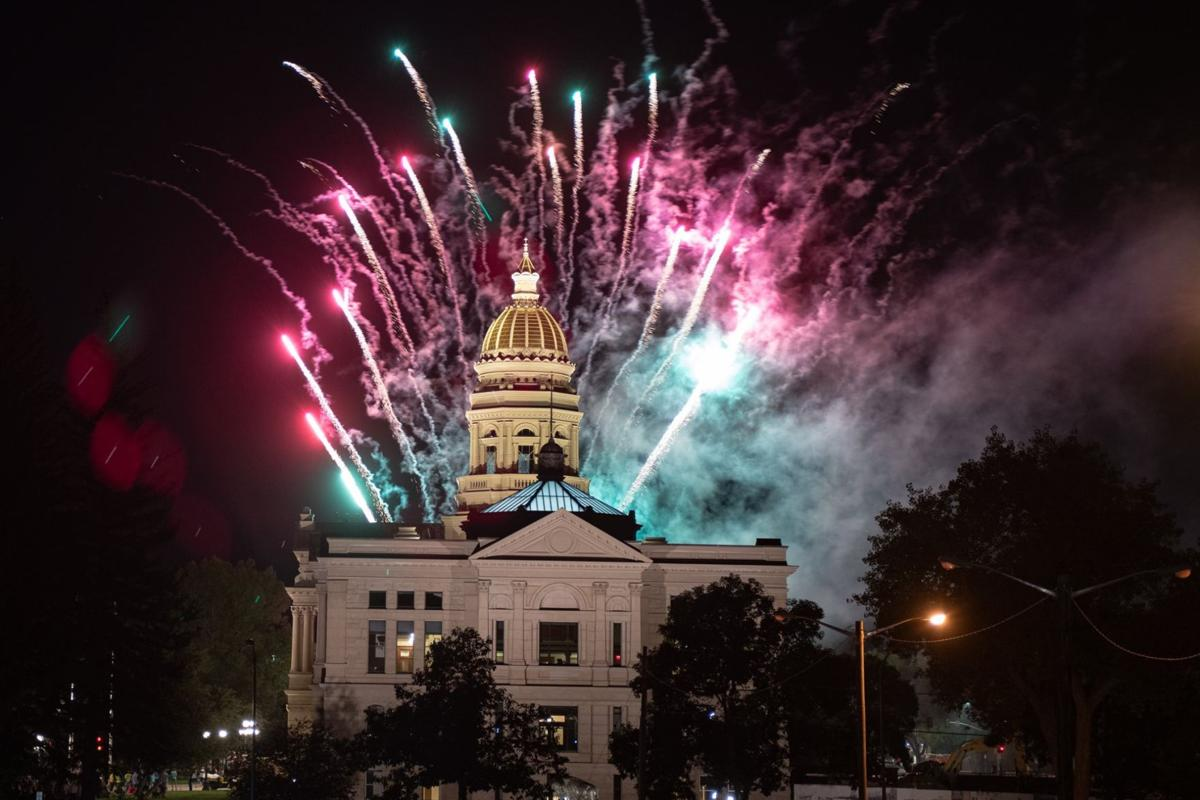 Fireworks over State Capitol