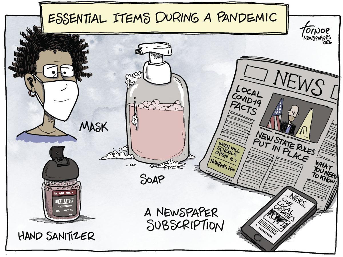 Editorial Cartoon: Essential Items