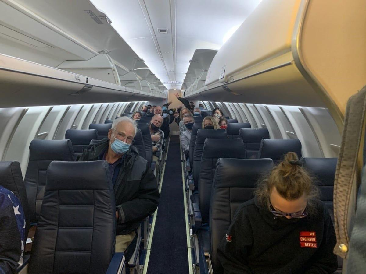 Pete Illoway on Denver to Cheyenne flight
