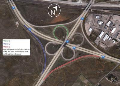 I-25 I-80 Interchange construction plan