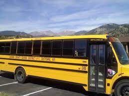 LCSD #1 Laramie county school district School Bus photo