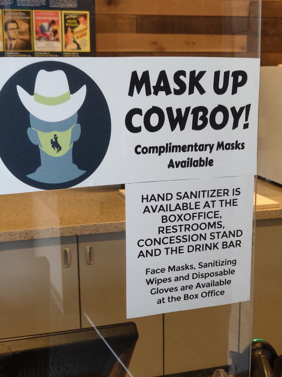Mask Up Cowboy sign photo