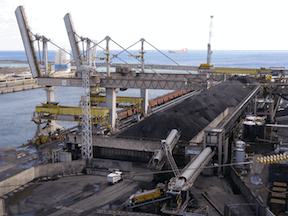 Coal port terminal photo