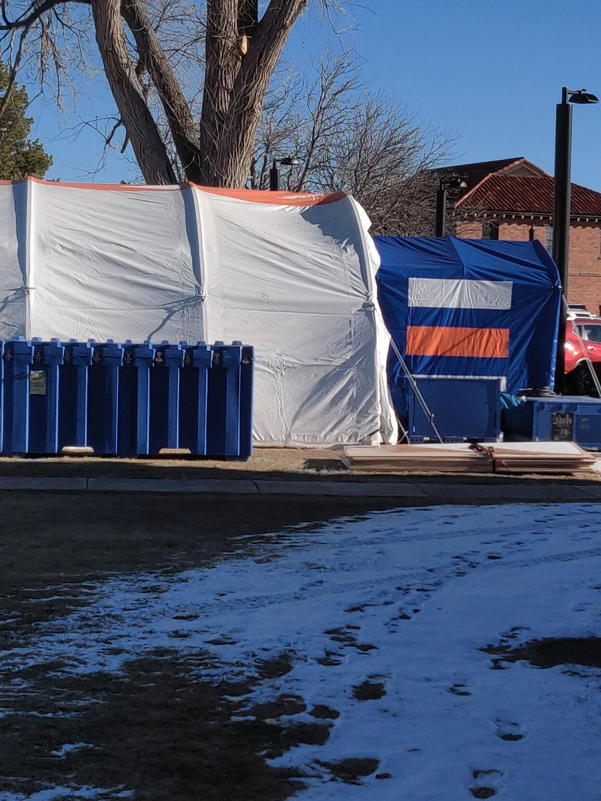 Tent set up for Covid patients at Cheyenne VA Hospital photo