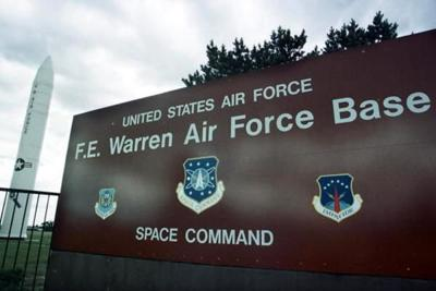 F E Warren AFB Front Sign