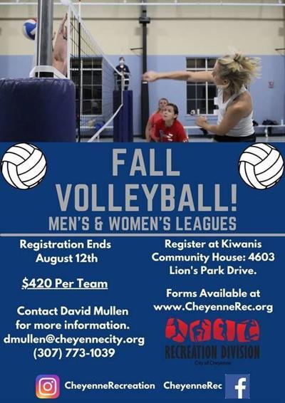 Volleyball registration graphic