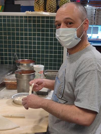 Joe Garcia of Grandpa's Pizza photo