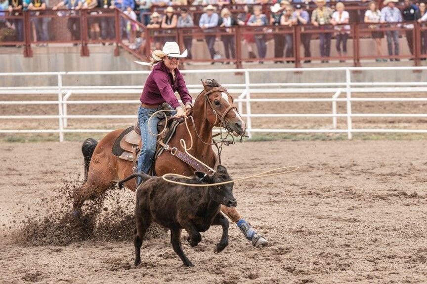 Women's Roping Cheyenne Frontier Days Rodeo photo