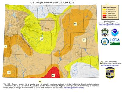 Drought Map Graphic