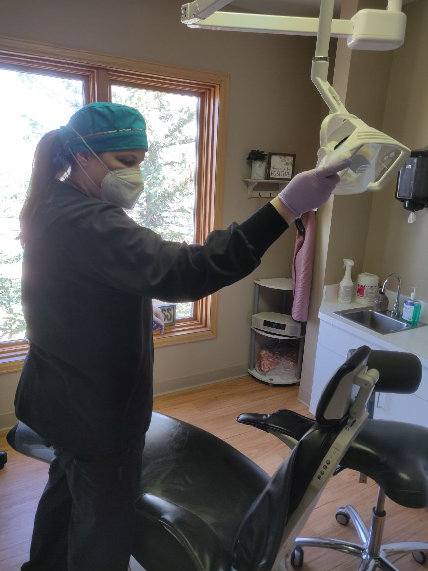 Cleaning Dentist Exam Room