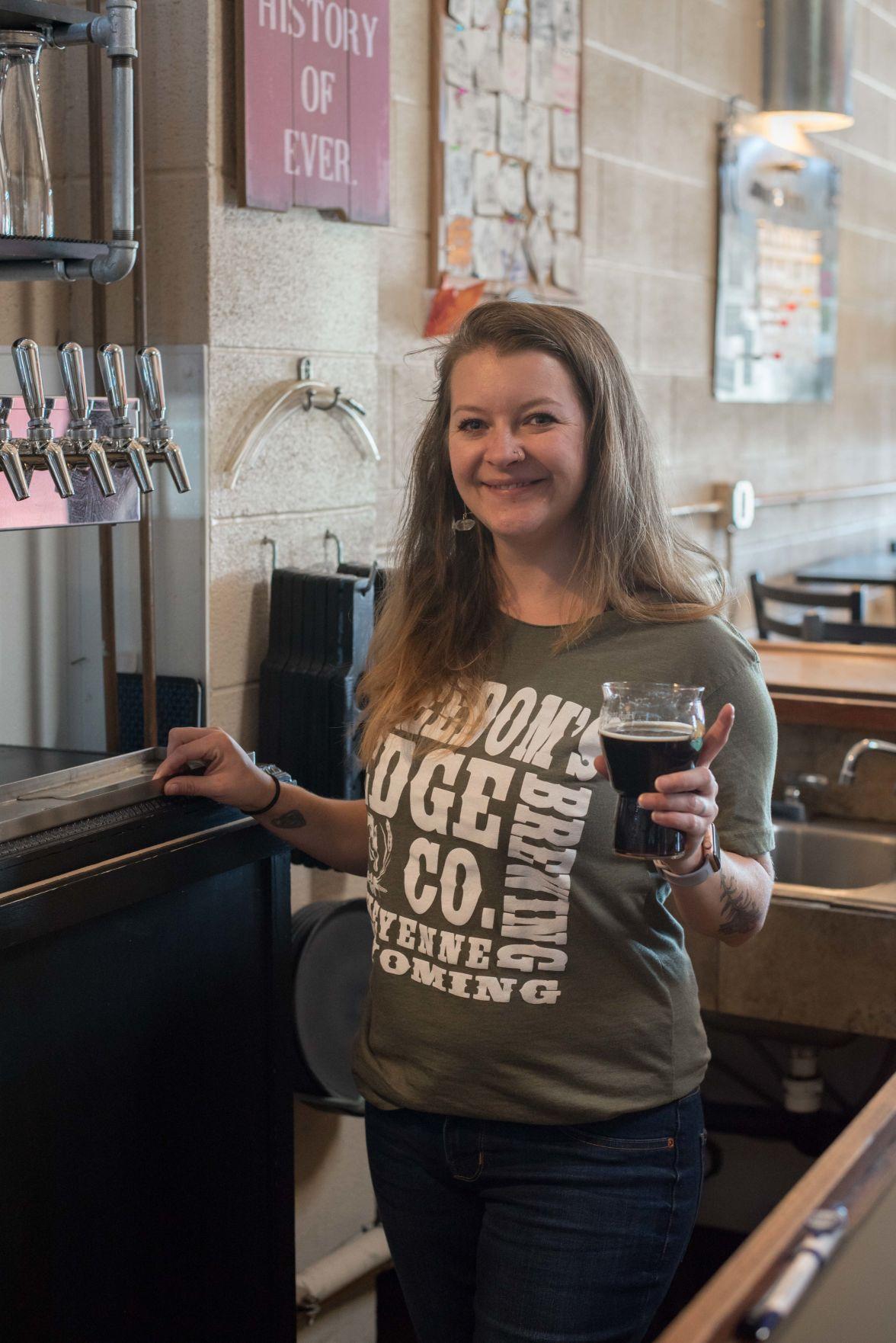 Muriah Kilmer at Freedom's Edge Brewery