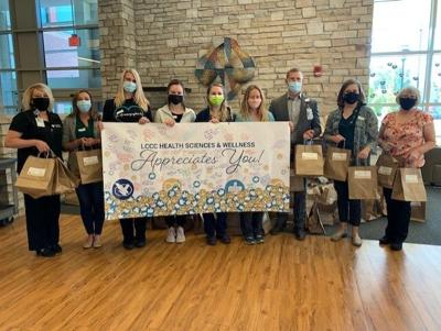 LCCC students and faculty thank CRMC employees with a delivery of goodie bags photo