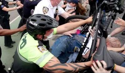 NYPD bike protest