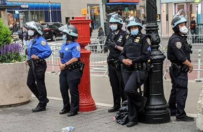 nypd lamppost