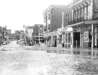 Commercial Street flooded