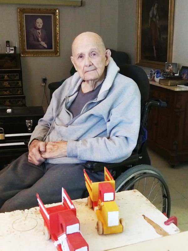 Master woodworker still going strong at 90 years young