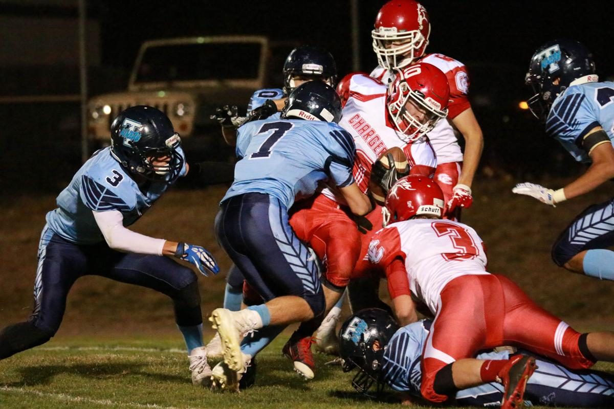 Ethan Duran with a tackle