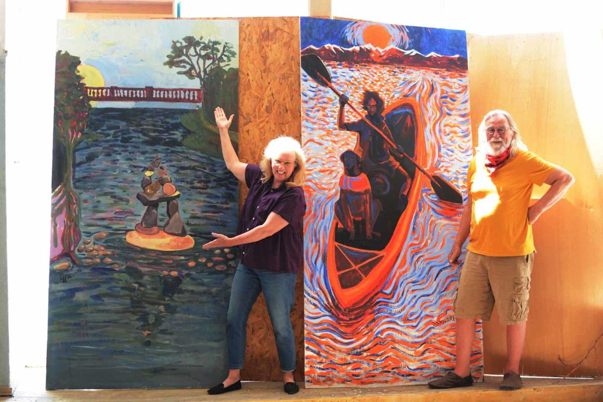 Historic Main Street Board commissions temporary  plywood murals