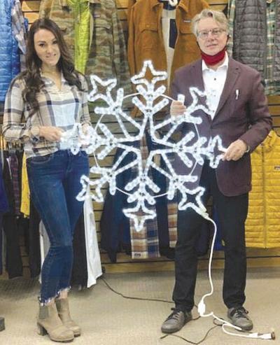 'Tis the season for downtown snowflakes