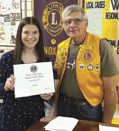 Knox Lions Club honors Bauer