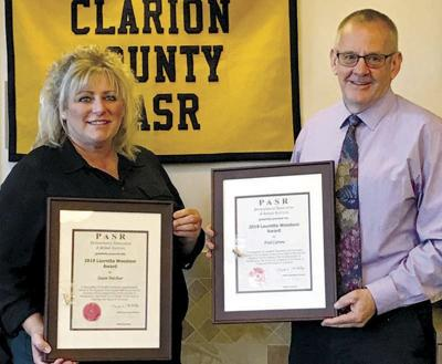 Beichner and Carrow honored at CCPASR meeting