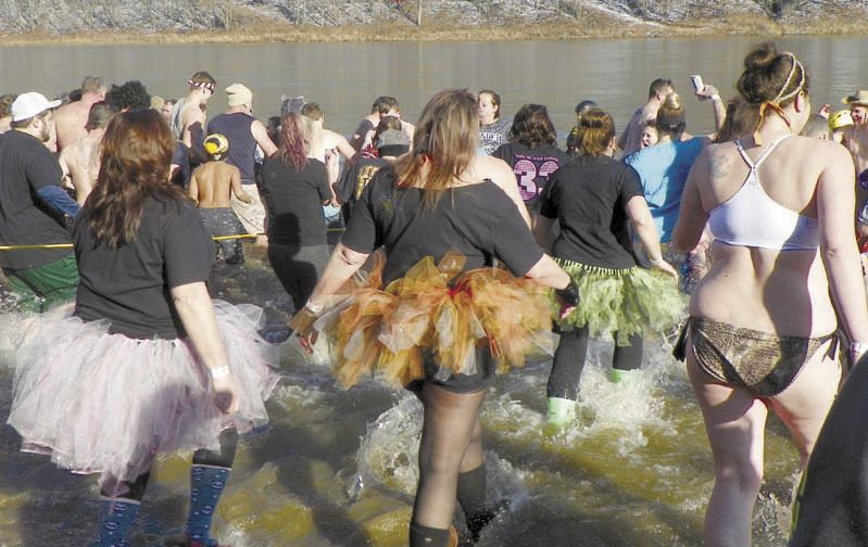 Annual Parker Polar Bear Plunge pulls them into the river