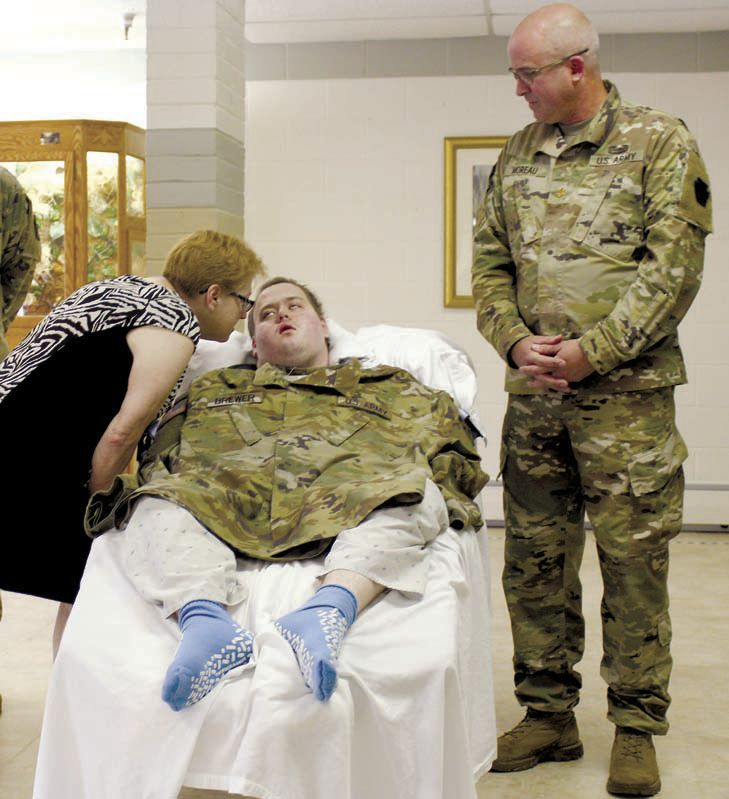 Battling cancer, Clarion man is an honorary soldier