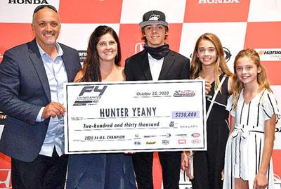 Yeany making a name for himself in open wheel racing circuit
