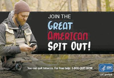 Join the 'Great American Spit Out' on Feb. 20