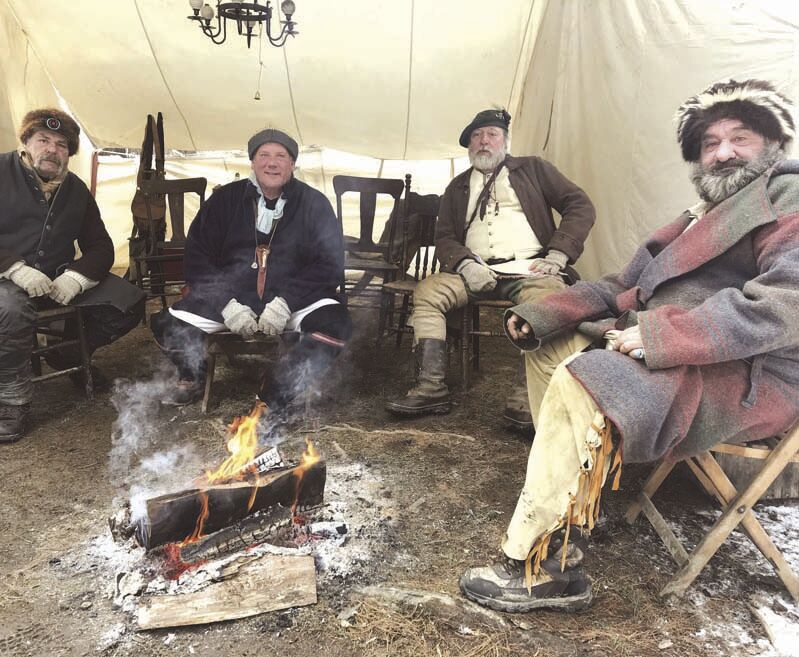 Area residents spend cold weekend 'on the frontier'