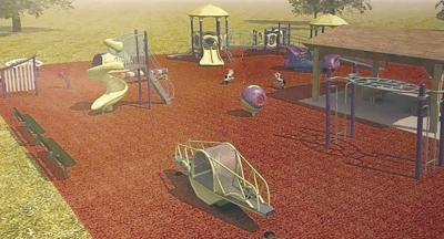 County lands grant for playground equipment