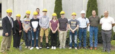 Career Center students tour Kronospan Clarion Industries