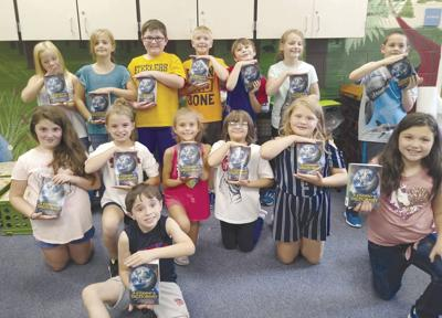 Forest Area students receive dictionaries