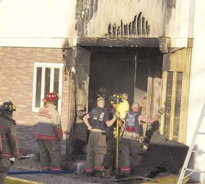 Fire damages probation, district court building