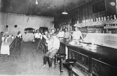 Revitalize Sipe Springs continues to rev up! Drive out that way to get a good before picture. Imagine, as you drive around the ghost town, that thousands of people especially oil men frequented the streets and businesses in the early nineteen-hundreds. Do you recognize any of these men in this picture from 1918 from a local watering hole in Sipe Springs?