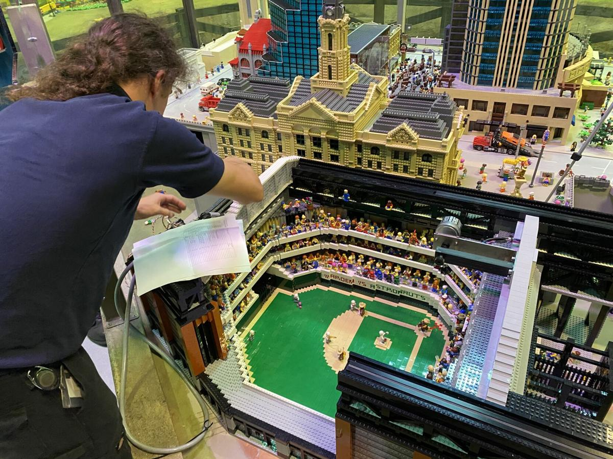 LEGOLAND Discovery Center Dallas Fort Worth - Baseball Stadium Install -  Toby Roworth, a LEGO Animation Technician.JPG