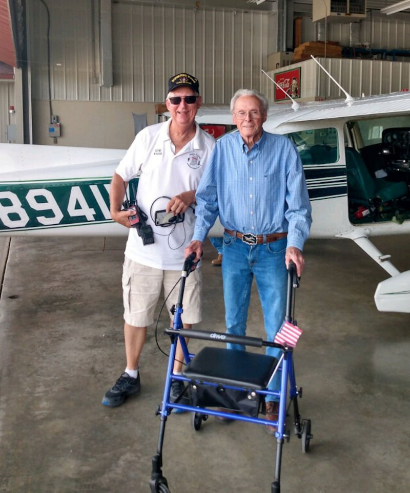Up, up and away at age 97;  Local World War II vet flies high once more