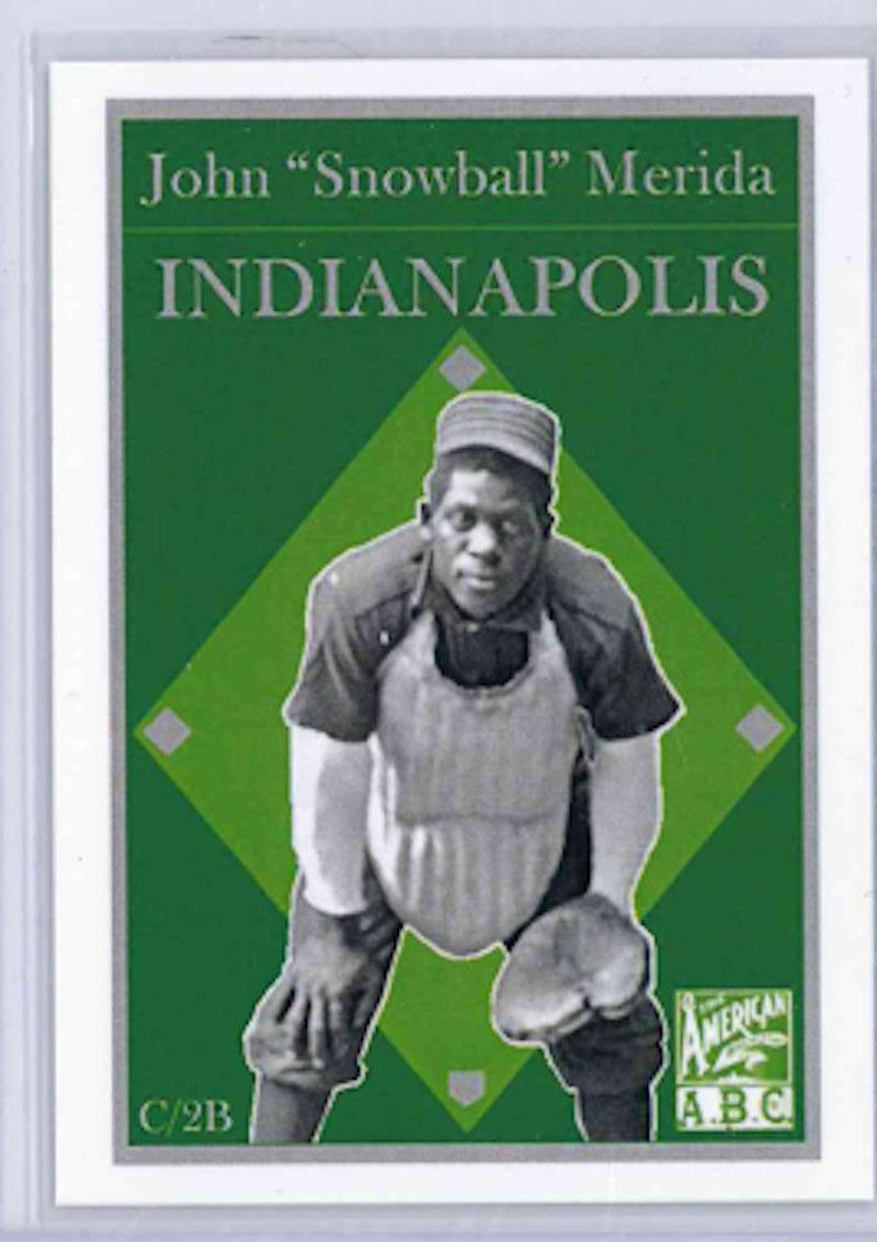 Snowball's baseball card