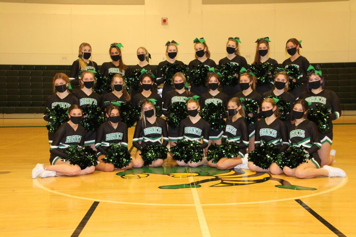 The Hornets Cheer Squad Masked Up and Ready to Go